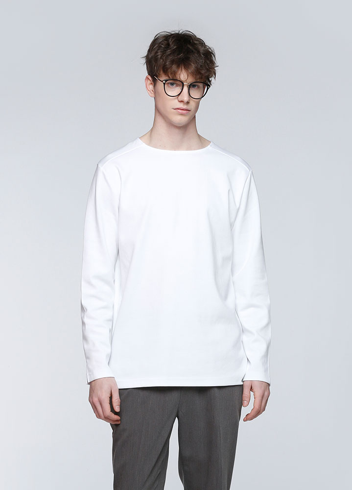 SOFT COTTON  LONG TSHIRT[WHITE]