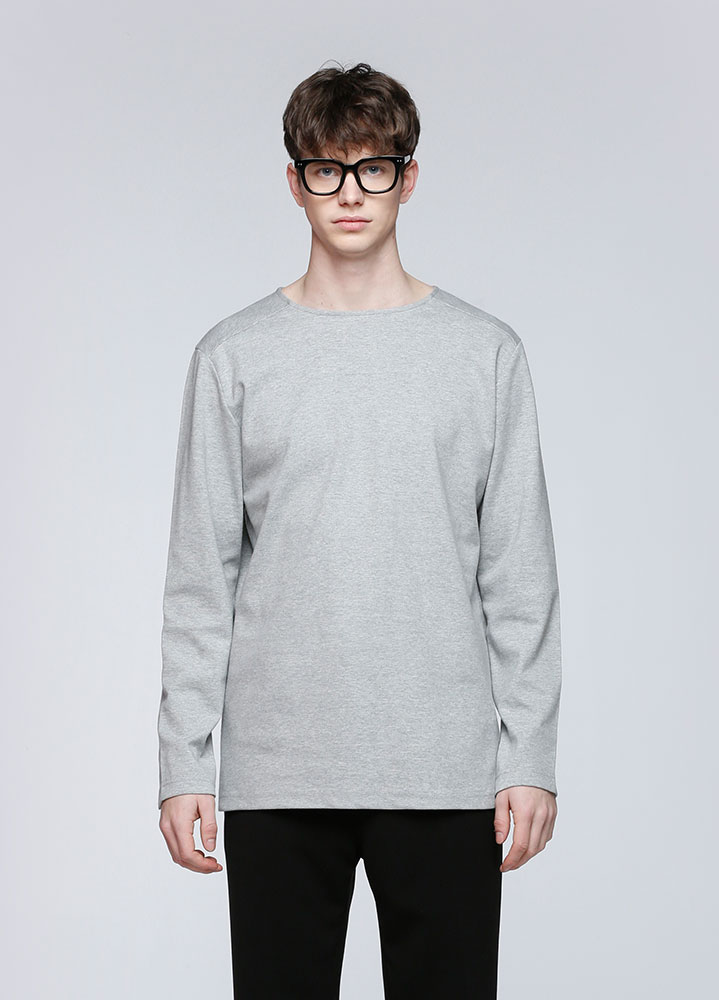 SOFT COTTON  LONG TSHIRT[GREY]
