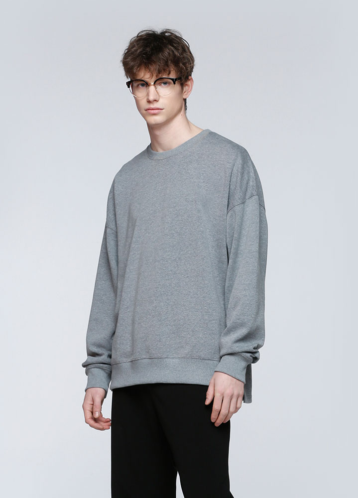 VENT OVERSIZED SWEATSHIRT[CHARCOAL]