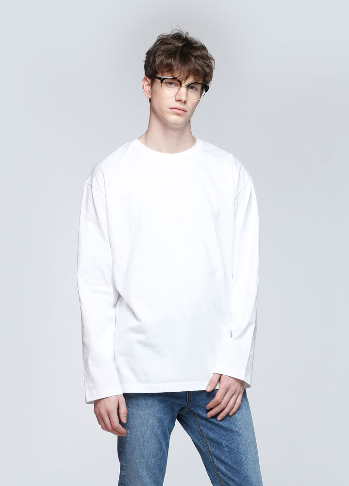 OVERSIZED LONG TSHIRT[WHITE]