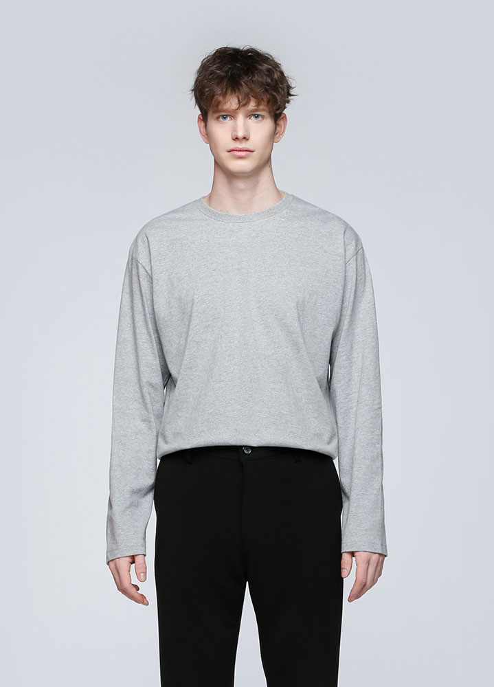 OVERSIZED LONG TSHIRT[GREY]