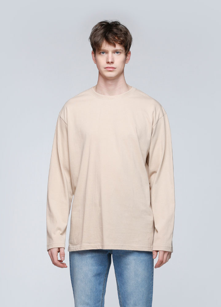 OVERSIZED LONG TSHIRT[BEIGE]
