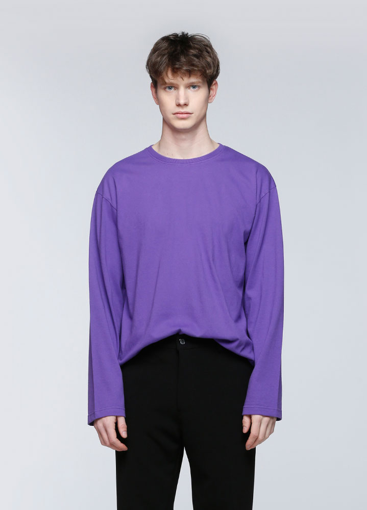 OVERSIZED LONG TSHIRT[PURPLE]