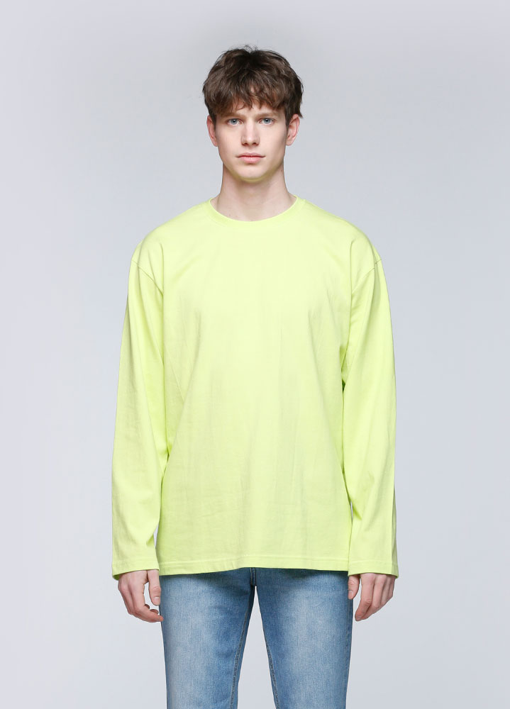 OVERSIZED LONG TSHIRT[LIME]