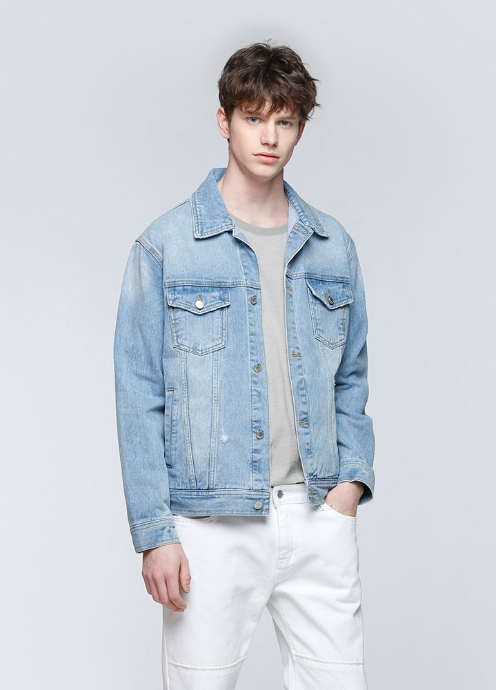 SEMI LOOSEFIT ICE DENIM JACKET