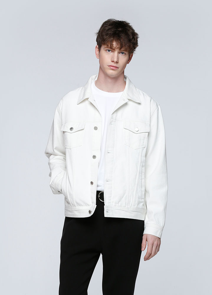 SEMI LOOSEFIT COTTON JACKET