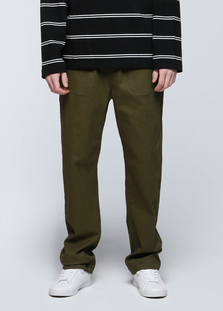 BANDING FATIGUE PANTS[OLIVE]