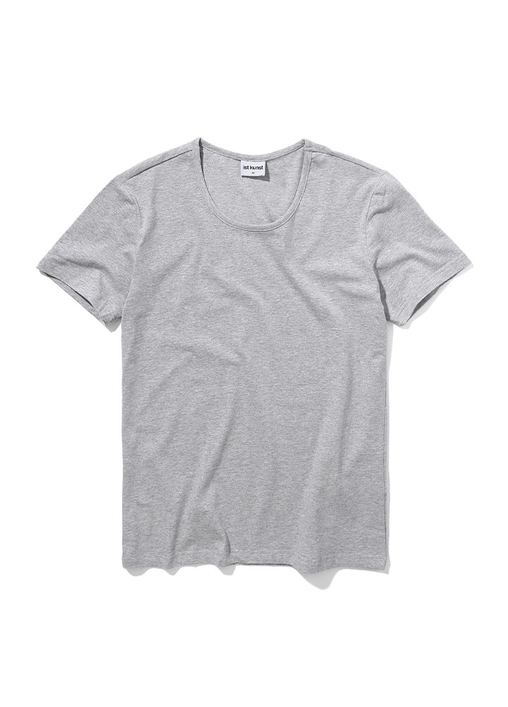 [STANDARD]SCOOPNECK COTTONSPAN TSHIRT[GREY]