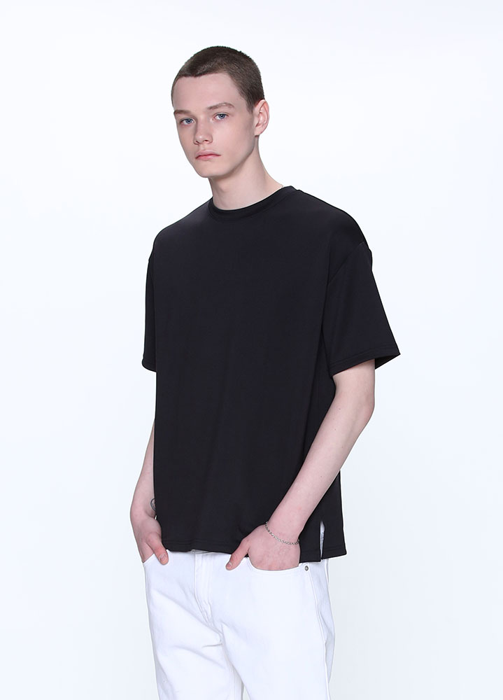 [STANDARD]HEAVY COOLON OVERSIZED TSHIRT[BLACK]