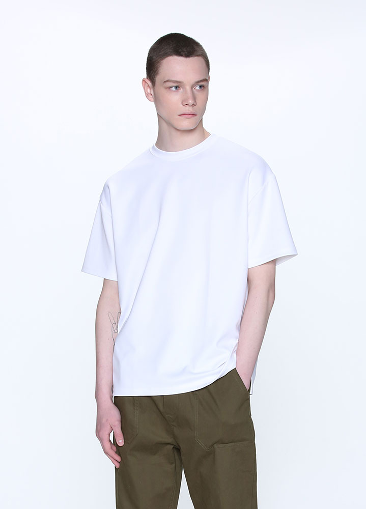 [STANDARD]HEAVY COOLON OVERSIZED TSHIRT[WHITE]