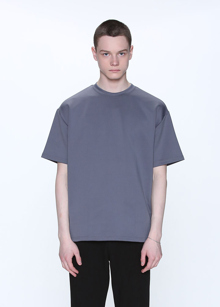 [STANDARD]HEAVY COOLON OVERSIZED TSHIRT[GREY]
