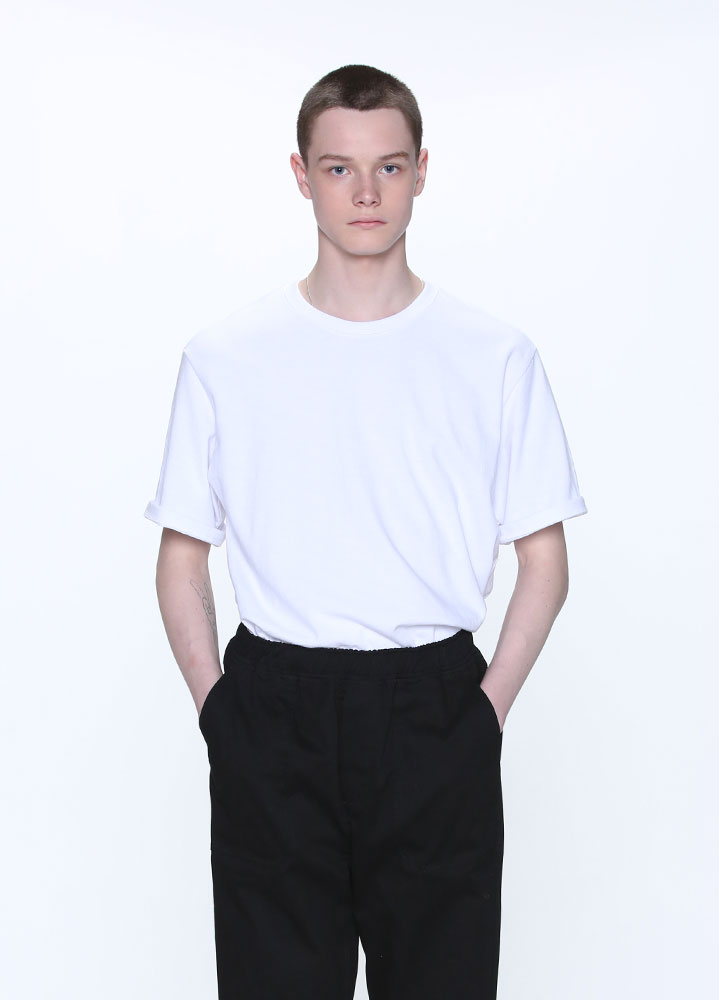HEAVYWEIGHT SLUB SHORT TSHIRT[WHITE]