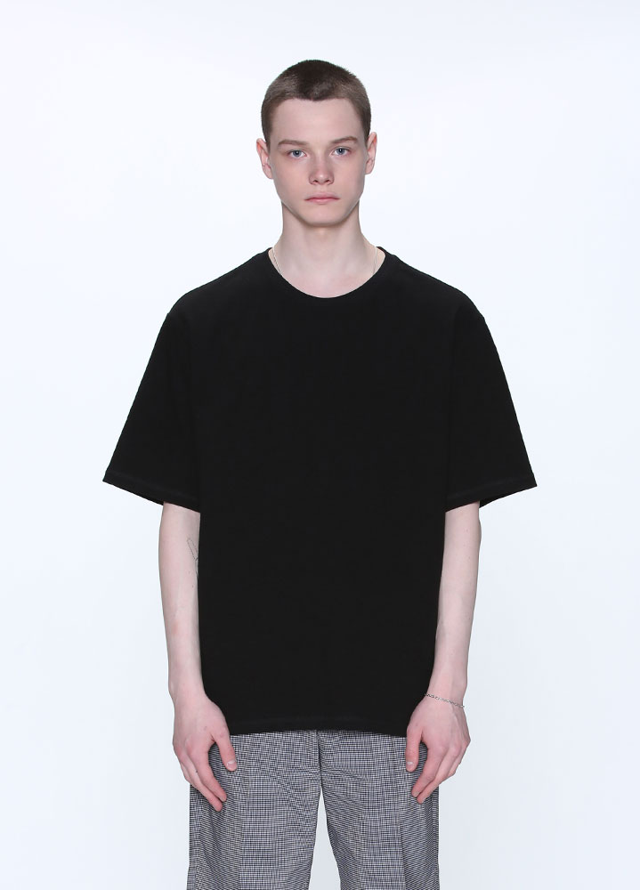 HEAVYWEIGHT SLUB SHORT TSHIRT[BLACK]