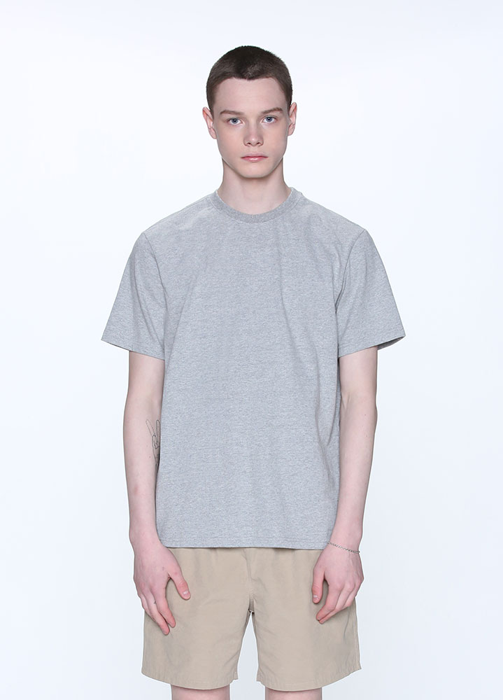 LONG REGULAR FIT SHORT TSHIRT[GREY]