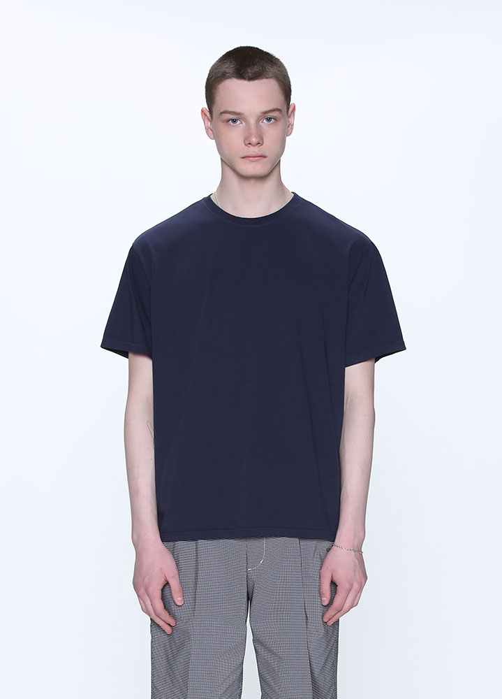GARMENT DYEING SHORT TSHIRT[NAVY]