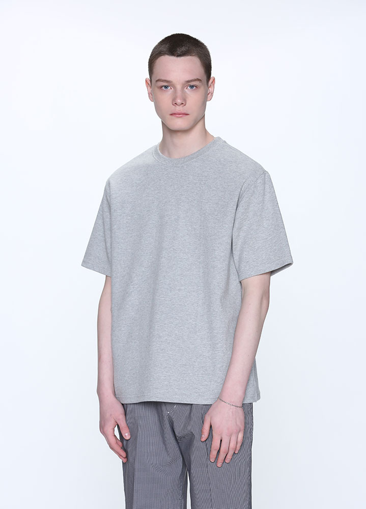 NEW OVERSIZED SHORT TSHIRT[GREY]