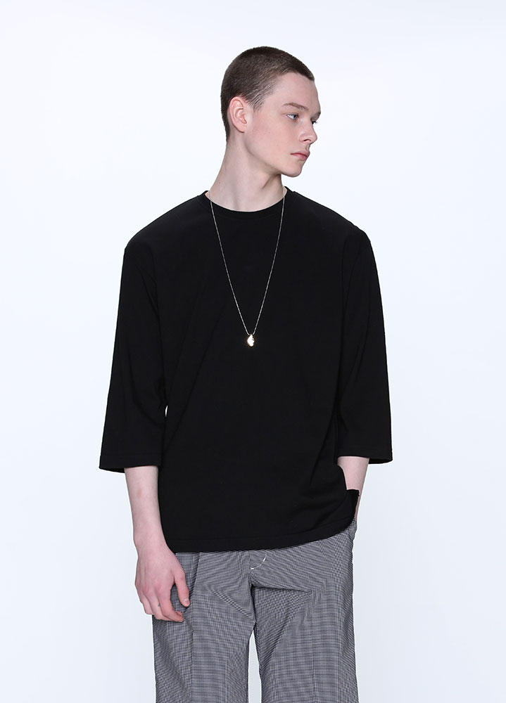 OVERSIZED 3/4 TSHIRT[BLACK]