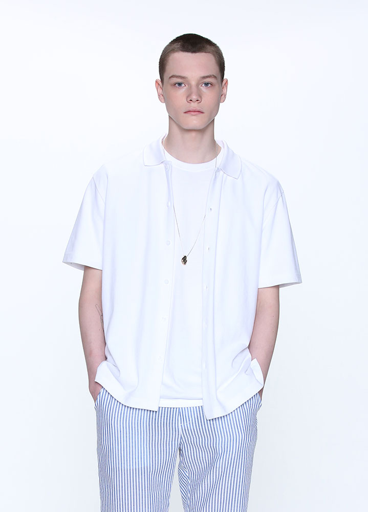 BUTTON COLLAR SHIRT[WHITE]