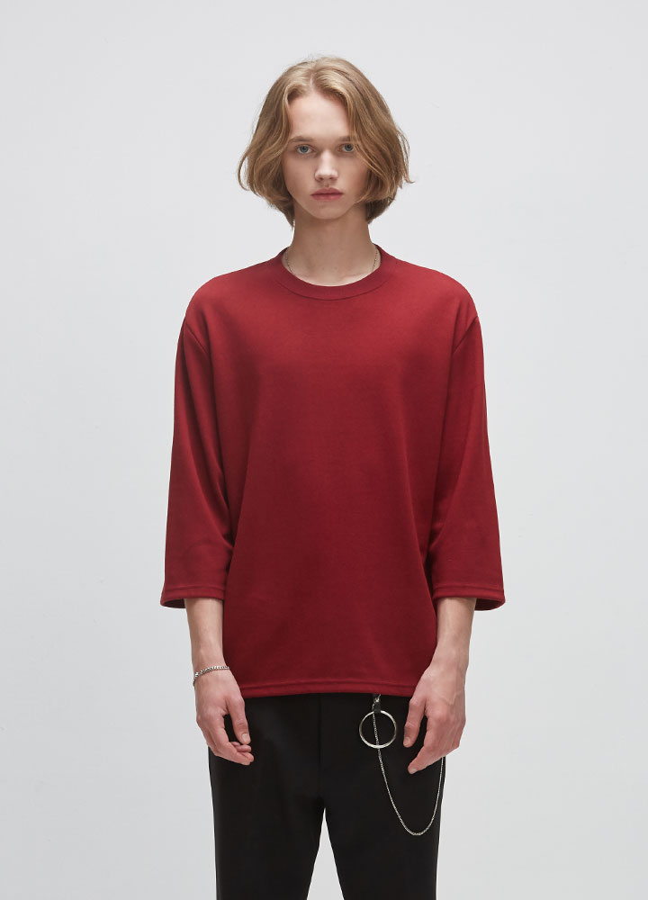 3/4 DROP SWEATSHIRT[WINE]