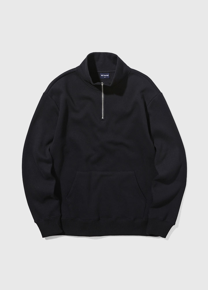 HALF ZIP SWEATSHIRT[BLACK]