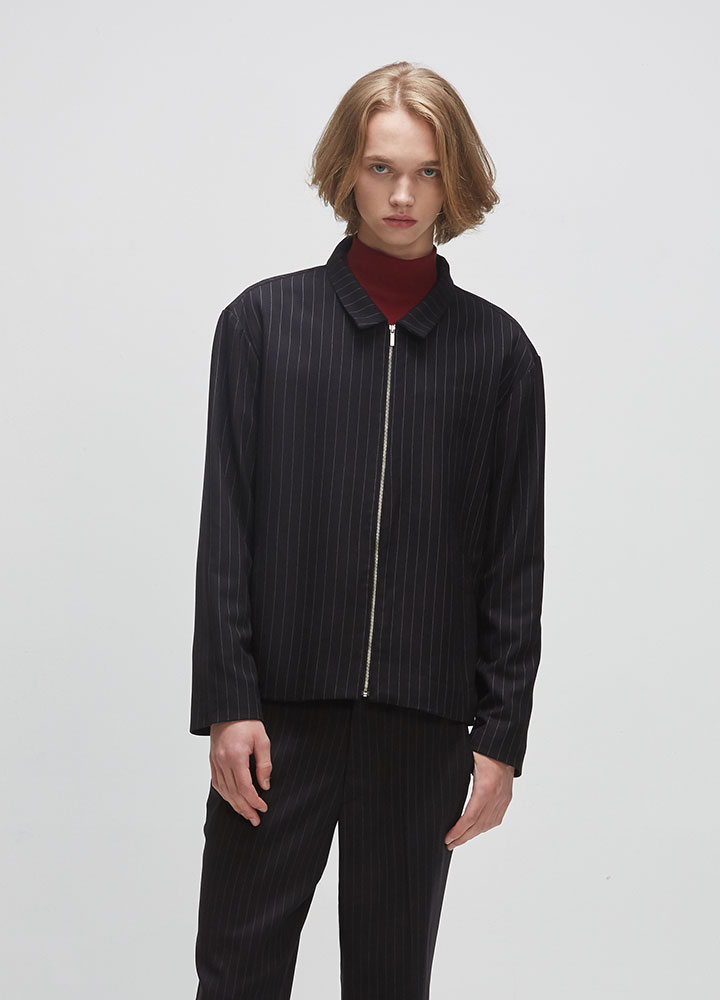 MINIMAL STRIPE JACKET[BLACK]