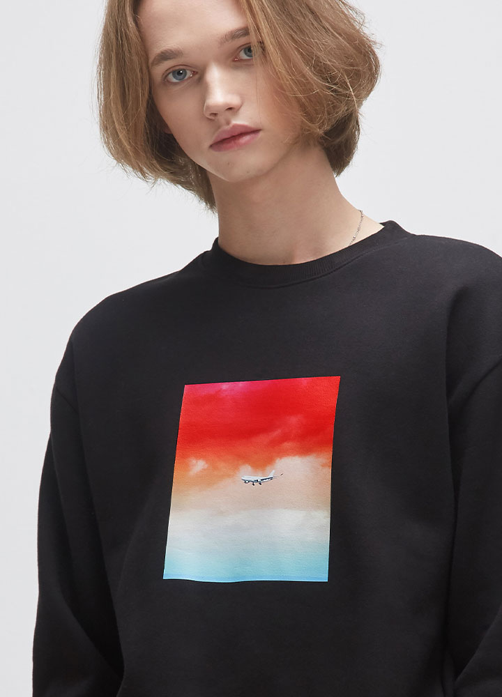 FLIGHT SWEATSHIRT[BLACK]