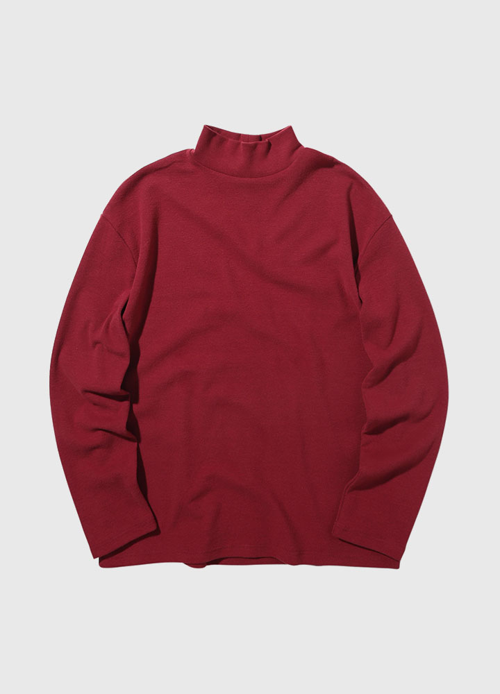 KNIT HALFNECK LONG TEE[WINE]