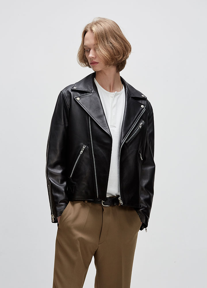 [LEATHER COLLECTION]PREMIUM LAMBSKIN RIDERS JACKET