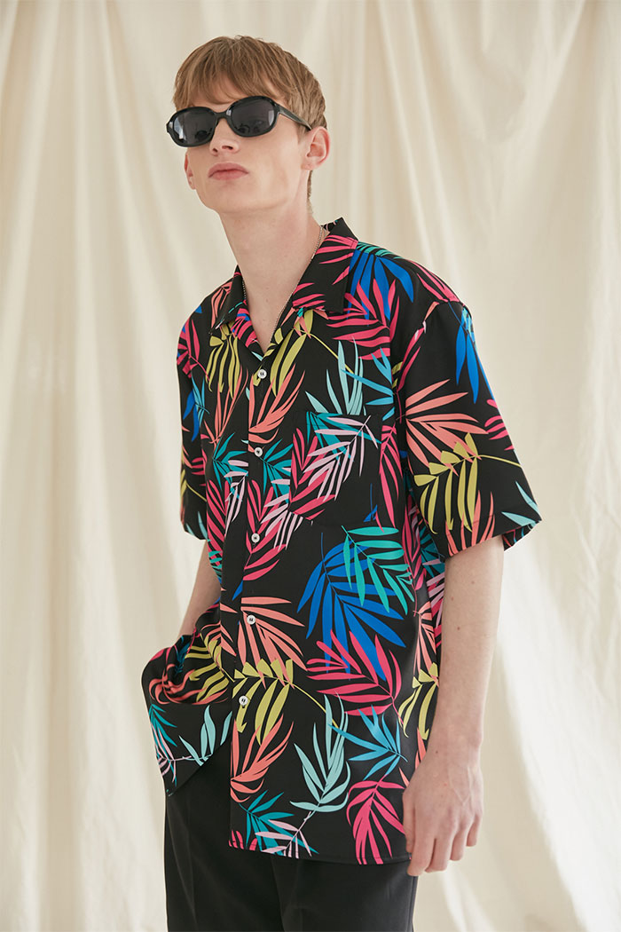 TROPICAL HAWAIIAN SHIRTS[BLACK]