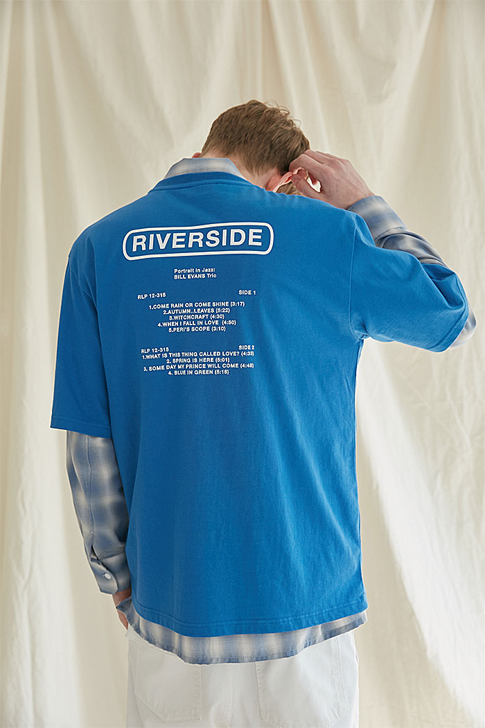 RIVERSIDE TSHIRT[BLUE]