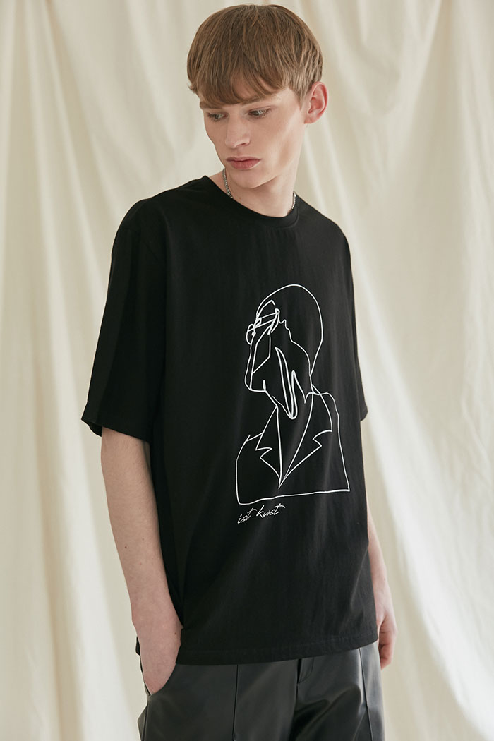 DRAWING TSHIRT[BLACK]