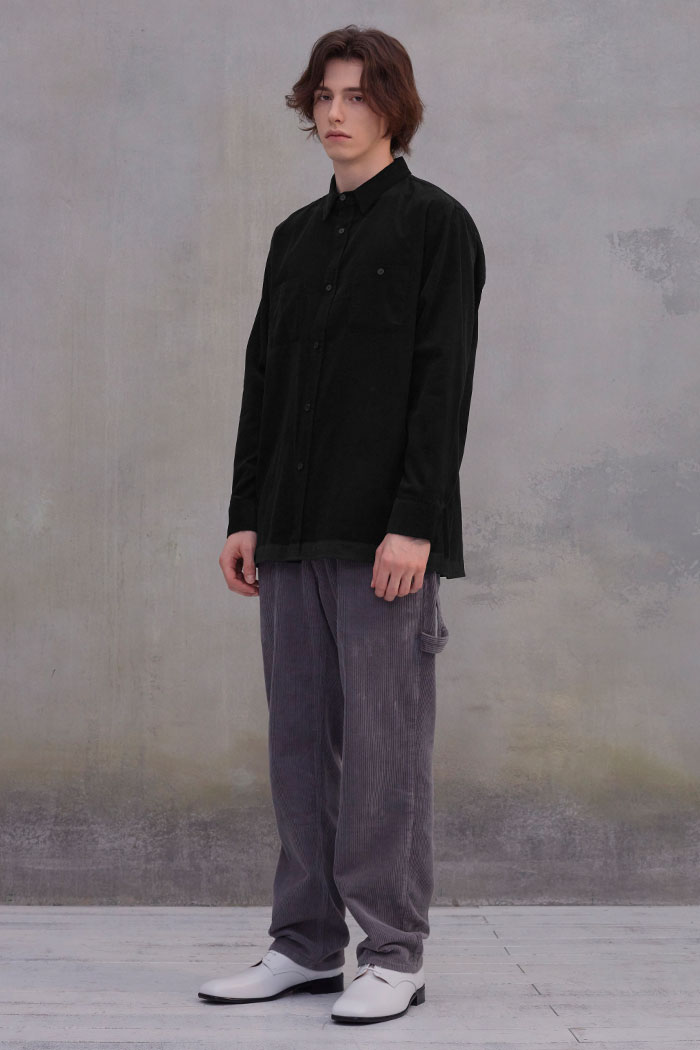 CORDUROY 2POCKET SHIRT[BLACK]
