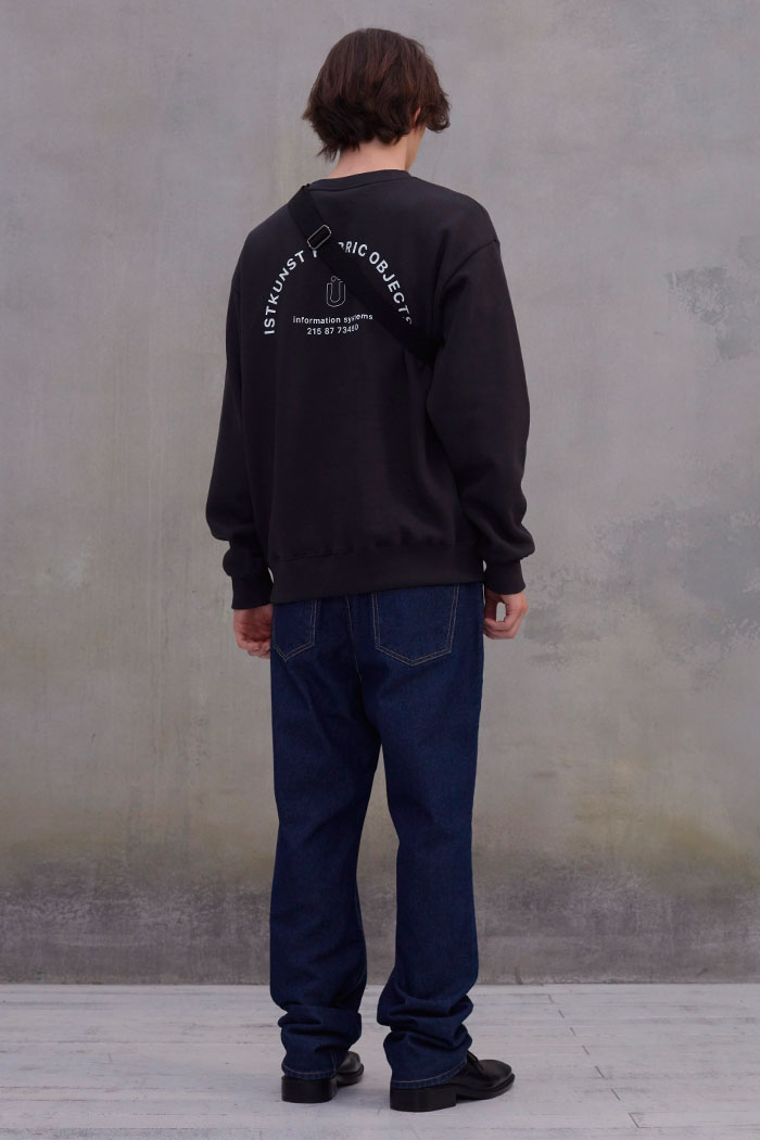 INFORMATION SWEATSHIRT[CHARCOAL]