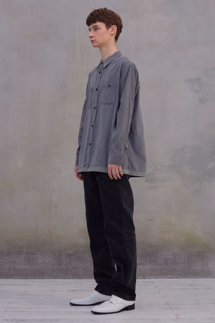 CORDUROY 2POCKET SHIRT[GREY]