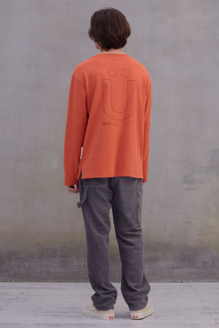 BIG U LOGO L/S TSHIRT[ORANGE]