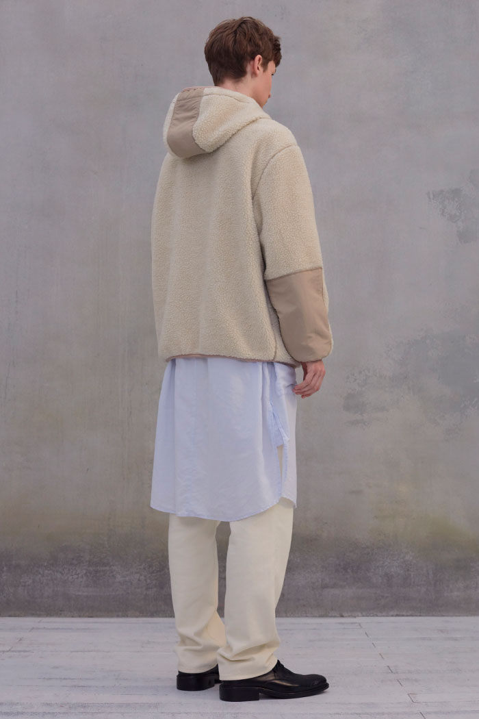 FLEECE HOOD JACKET[IVORY]