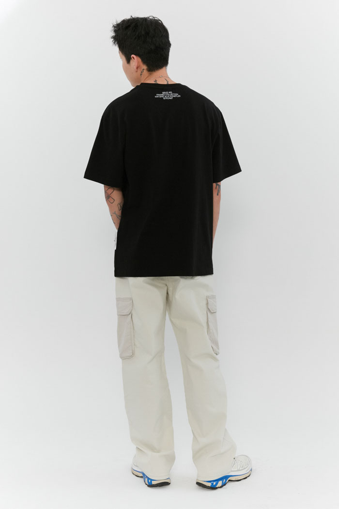OVAL LOGO TEE[BLACK]