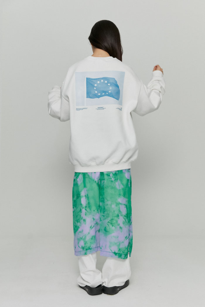 FLAG SWEATSHIRTS[WHITE]