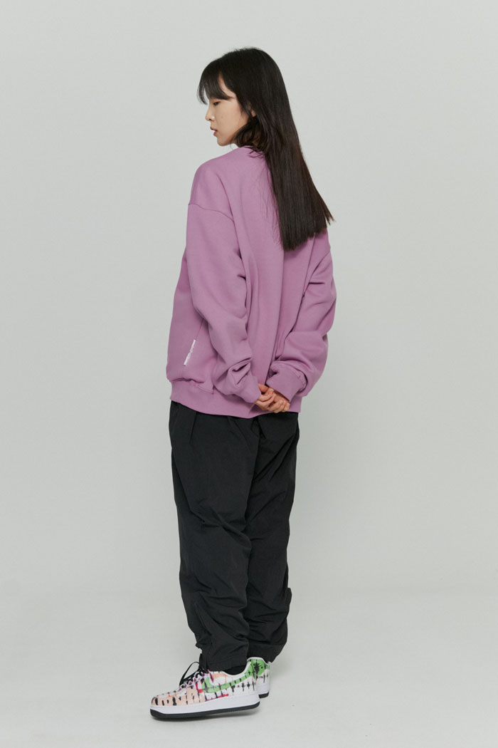OVAL LOGO SWEATSHIRTS[PURPLE]