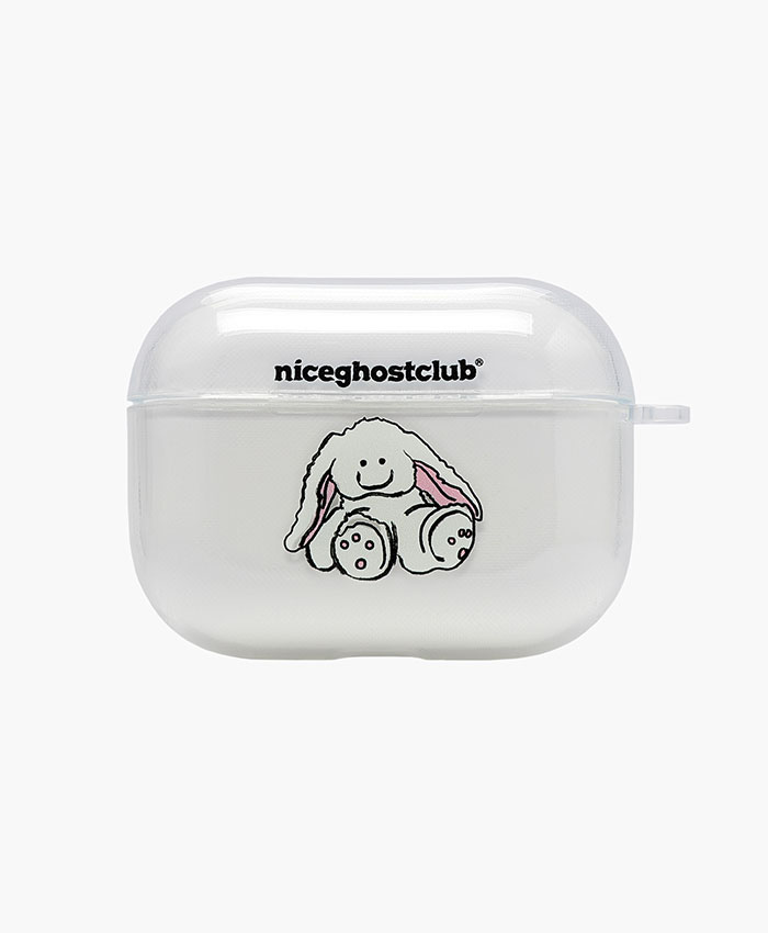 NGC_RABBIT DOLL AIRPODS PRO CASE CLEAR