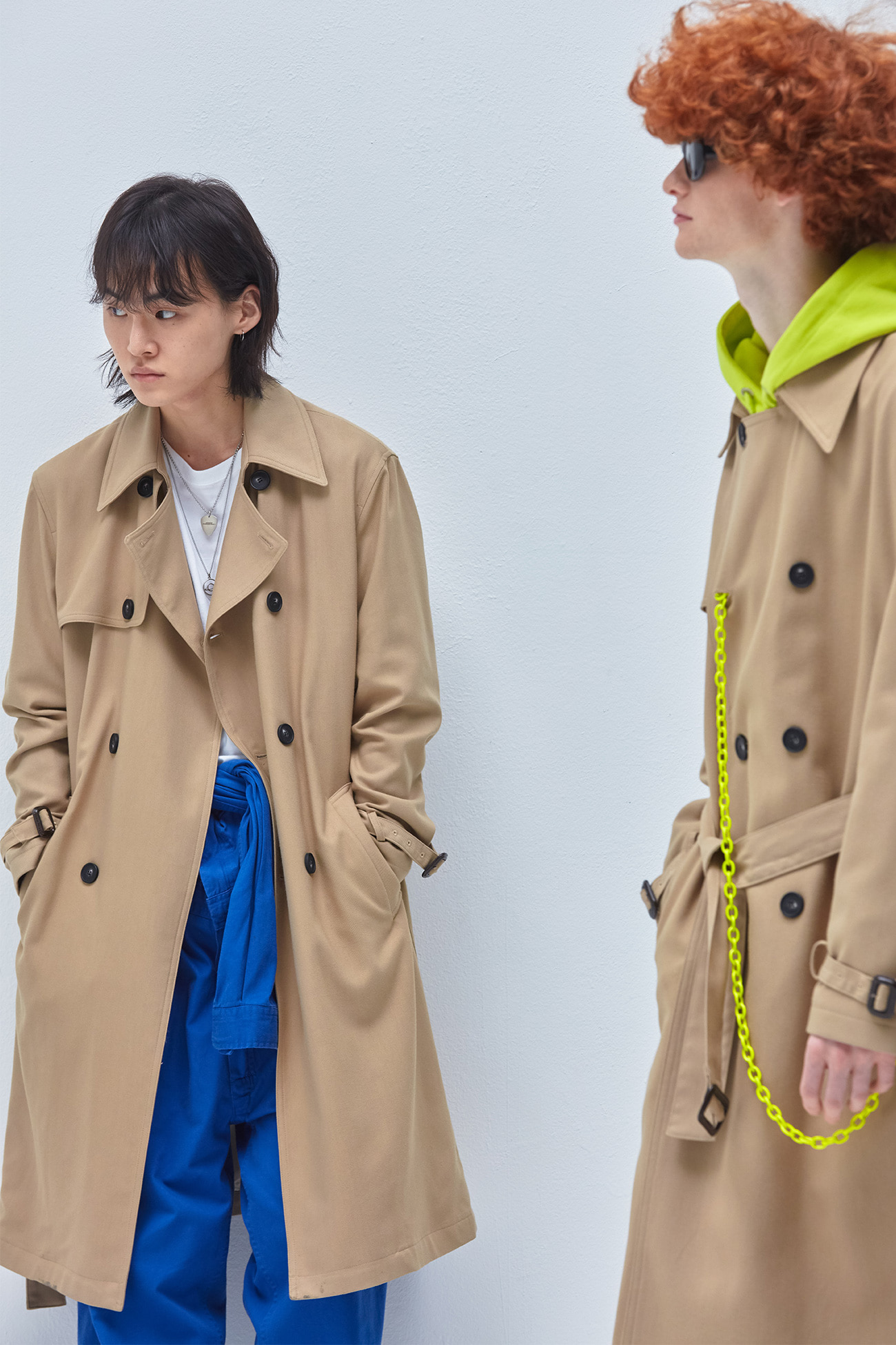 TATE LONG TRENCH COAT[BEIGE]