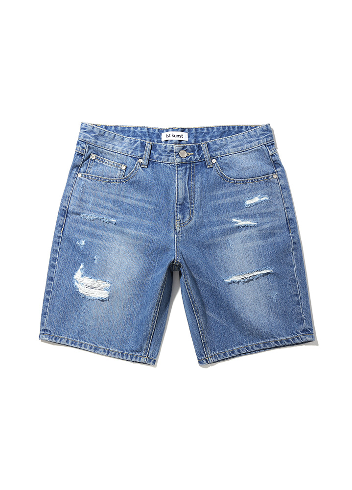 [17SS] PARTY DESTROYED DENIM SHORTS