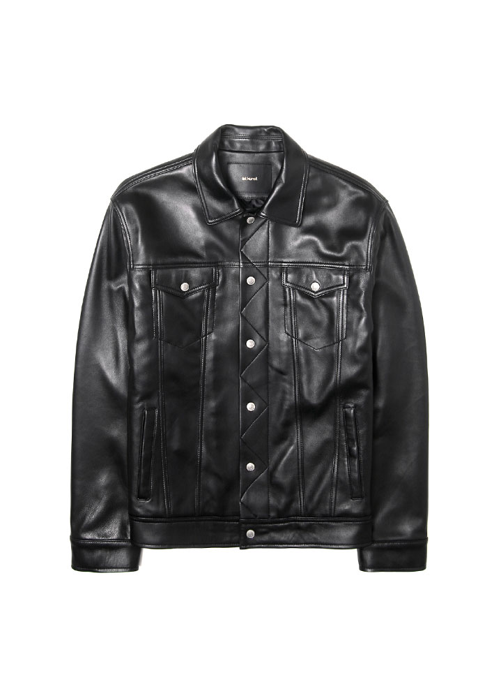 [17FW] LAMBSKIN TRUCKER JACKET[BLACK]