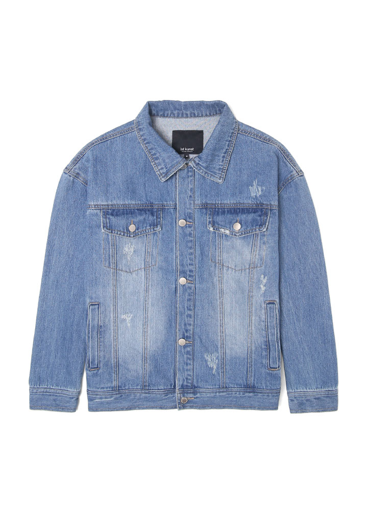 [17FW SUPER EDITON]LOOSEFIT DAMAGE DENIM JACKET[INDIGO]