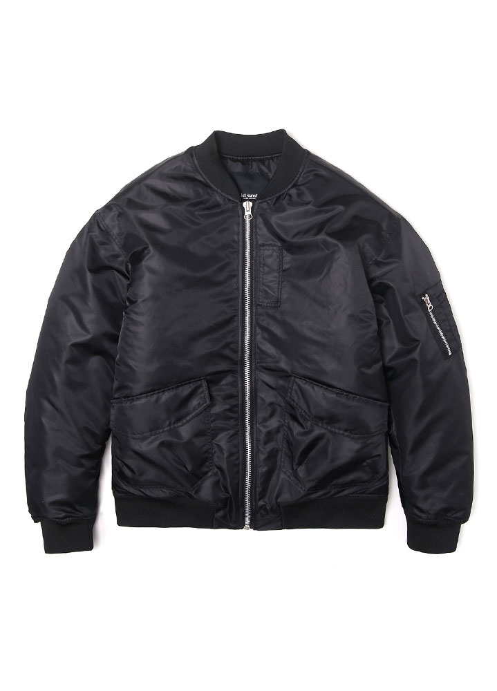 [17FW SUPER EDITION] OVERSIZED MA-1 FLIGHT JACKET[BLACK]