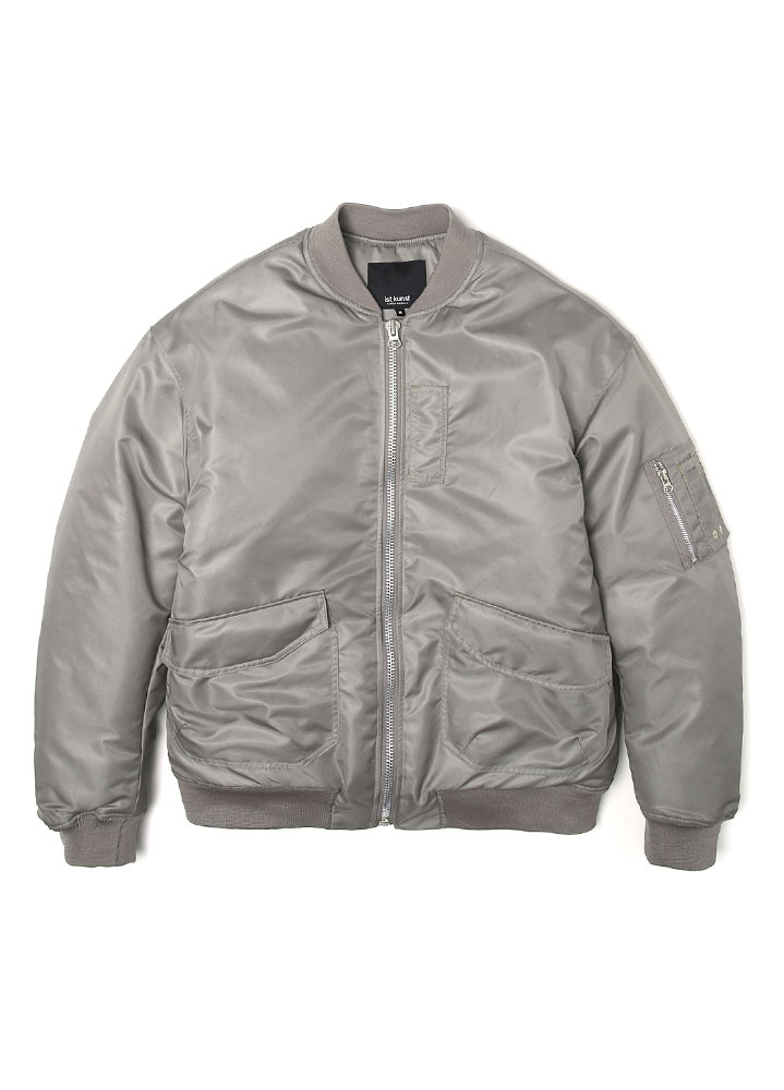 [17FW SUPER EDITION] OVERSIZED MA-1 FLIGHT JACKET[STONE]