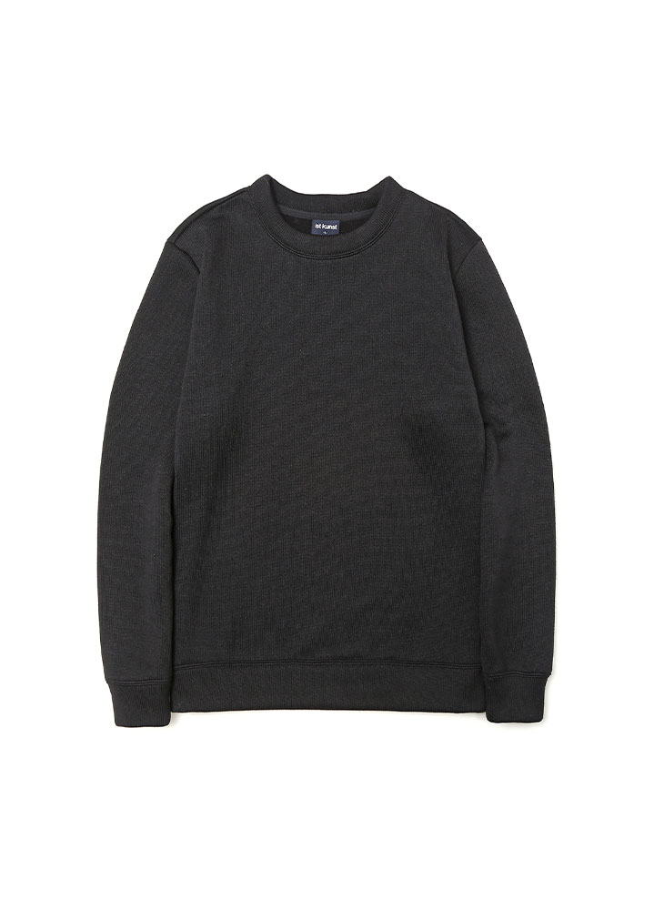 [17AW] SOLID KNIT SWEATSHIRT [BLACK]