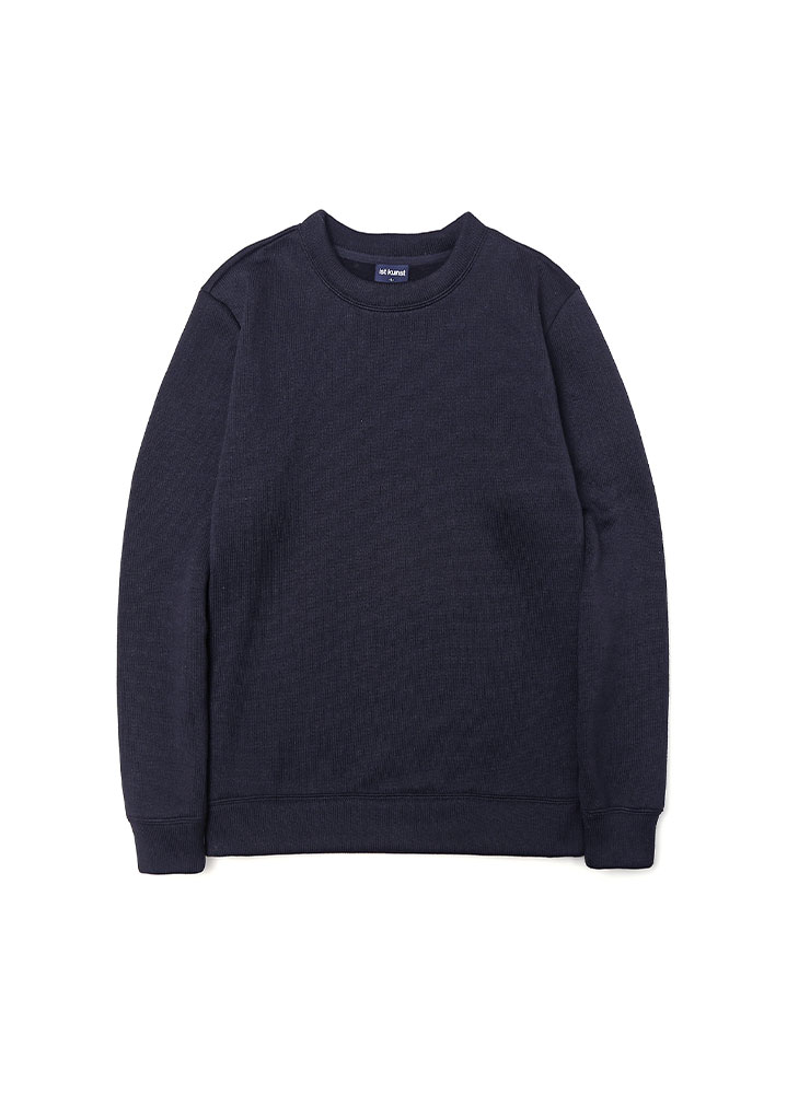[17AW] SOLID KNIT SWEATSHIRT [NAVY]