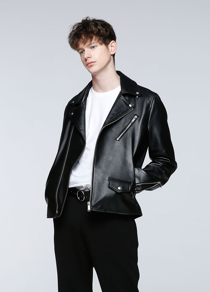 [한해 착용][LEATHER COLLECTION]CLASSIC LAMBSKIN RIDERS JACKET