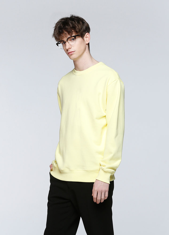 MACARON SWEATSHIRT[LIGHT YELLOW]